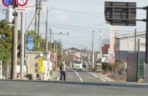浪江町(立ち入り制限区域)の入り口